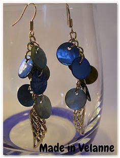 Boucles d'oreille angel bleues