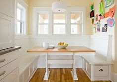 Breakfast Nook -- Booth Style | Content in a Cottage