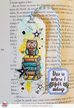 Maska Vanacker for Avery Elle using Bookmark Die and This Book stamp set.