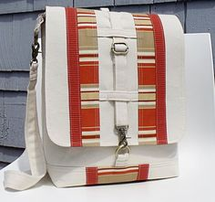 Convertible Backpack Messenger Satchel  LONDoN by MadBlueDesigns, $84.00