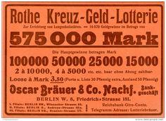 Original-Werbung/Inserat/ Anzeige 1902 : ROTHE-KREUZ-GELD-LOTTERIE ca. 190 x 130 mm