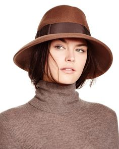 """Eric Javits Kim Wool Fedora 