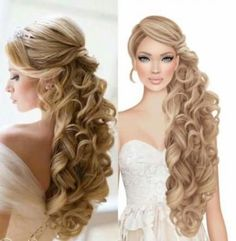 Hochzeit Trendy bridal hairstyles for long hair wavy half up Alpi , Trendy bridal hairstyles for long hair wavy half up [ Trendy bridal hairstyles for long hair wavy half up [ [ [. Wavy Wedding Hair, Hairdo Wedding, Long Hair Wedding Styles, Long Wavy Hair, Wedding Hairstyles For Long Hair, Fancy Hairstyles, Wedding Hair And Makeup, Bride Hairstyles, Bridal Hair