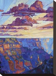 Stretched Canvas Print: The North Rim V by Erin Hanson : 12x9in