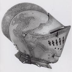 German, Nuremberg    Close Helmet, 1560    Steel  H. 22.2 cm (8 3/4 in.)  Weight: 7 lb 8 oz
