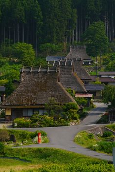 Old village in Kyoto - null