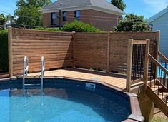 Above Ground Pool Landscaping, Above Ground Pool Decks, Backyard Pool Landscaping, Above Ground Swimming Pools, In Ground Pools, Decks Around Pools, Pool Deck Plans, Simple Pool, Swimming Pool Decks
