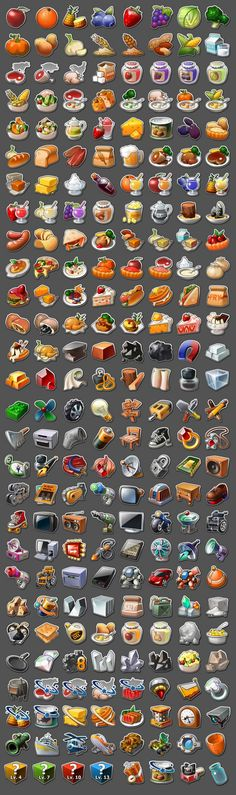 Game icons set Character row like this? Closer white outline and sharper drop shadow. >>> oooooo,more useful stuff! Game Design, Prop Design, Web Design, 2d Game Art, Video Game Art, Game Icon, Icon Set, Gui Interface, Pixel Art Games