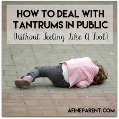 How to Deal with Tantrums - Main Image