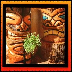 Handcarved Palm tiki  Sealed, heavy Phx az  Hawaiian, luau, Polynesian, party, backyard decorating, Tiki  Check out more tikis in my Facebook page. Stoopid tikis  https://www.facebook.com/Stoopidtikis