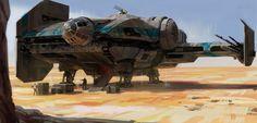 "ILM Challenge-The Ride:  ""The smugglers ship"", Miguel Iglesias on ArtStation at https://www.artstation.com/artwork/v05qd"