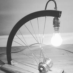"32 Likes, 5 Comments - Steve Pike (@spikex1) on Instagram: ""Bespoke wheel lamp finally done. #upcycling #mtblamp #26er #peoplewhodofunstuff #diy #gopro…"""