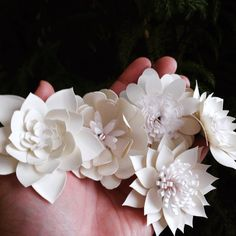 PAPER FLOWER 4 Mini Stemmed Mixed Variety 2.5 by TheBleuDahlia
