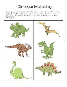 dinosaur theme matching games (2) « funnycrafts