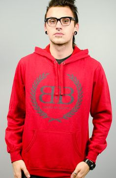 Royal Crest Pullover Hoodie (Red)