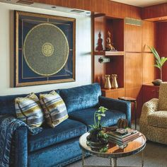 #Eclectic, Yacht-Like #Interiors Complete This #NYC #Apartment