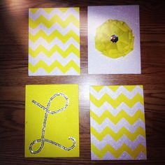 DIY canvas art: Alaina?? You are my sunshine, a sun, yellow and white chevron, white A on yellow background?? Or, hot pink and zebra stripe stuff...