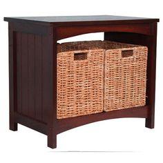 Jenlea Wood Storage Bench | Wayfair $133