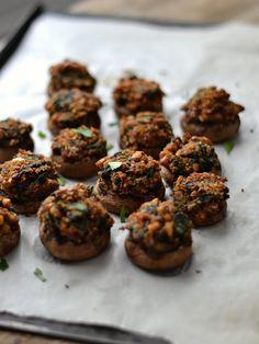 Cogumelos recheados - Compassionate Cuisine