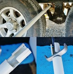 Got tired of crawling under the slide out to get to the galley tank's waste valve so made myself a remote valve opener closer doohicky. Rv Campers, Camper Trailers, Travel Trailers, Happy Campers, Camper Life, Rv Camping Tips, Camping Gadgets, Rv Tips, Camping Ideas