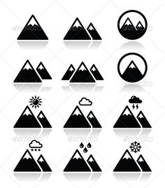 Crew signs? GraphicRiver Mountain Icons Set 6385817