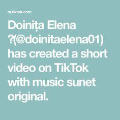 Doinița Elena 💕(@doinitaelena01) has created a short video on TikTok with music sunet original. Videos, The Originals, Music, Tik Tok, Smiley Faces, Queen, David, Woodworking, Hipster Stuff