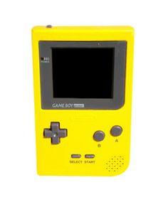 Nintendo Game Boy Pocket. YELLOW! *squeals!!* donkey kong, super Mario, memories