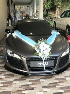 Satin dark gray Audi R8 wedding car 3M wrap