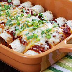 Skinny Chicken Enchiladas | Skinnytaste.com | Weight Watchers Points  8