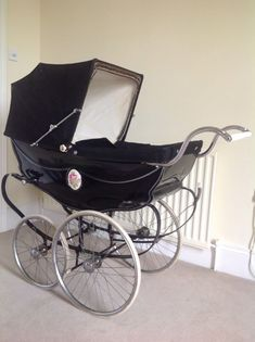 Vintage Black Coach Built High Pram by Wilson. This Is THE Dream Pram. I Seriously Doubt That I Will Ever Find One Of These...