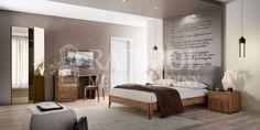 Sypialnia Storm Nowoczesna kolekcja o geometrycznych kształtach i niezwykłym wybarwieniu drewna