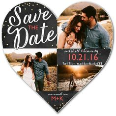Confetti Date - Heart Shaped Save The Dates in Flint or Gibraltar | Sarah…