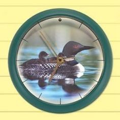"""MF0014 - 8"""" Loon Sound Clock - Sound provided by Cornell Hear a loon song hourly"""