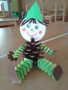34 Ideas para el Otoño - Educaciín Preescolar - Alumno On Kids Crafts, Christmas Crafts For Kids To Make, Preschool Crafts, Kids Christmas, Diy For Kids, Diy And Crafts, Arts And Crafts, Paper Crafts, Autumn Crafts