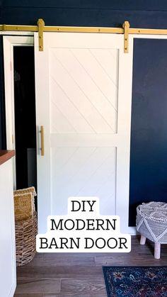 Diy Sliding Barn Door, Diy Barn Door, Diy Door, Barn Door Closet, Sliding Closet Doors, Diy Interior Doors, Barn Door Designs, Do It Yourself Inspiration, Modern Barn Doors