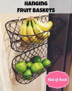 41 ideas fruit basket diy counter space for 2019 Diy Kitchen Storage, Kitchen Redo, Kitchen Design, Kitchen Ideas, Kitchen Hooks, Space Kitchen, Wall Storage, Storage Cabinets, Kitchen Tips