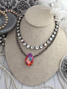 NEW: Large Genuine Swarovski Crystal Tear by KissMySassJewelry Body Jewelry, Jewelry Box, Jewelry Making, Jewelry Ideas, Stone Bracelet, Bridal Jewelry, Swarovski Crystals, Beaded Necklace, Necklaces
