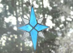 Christmas Star Ornament  www.swankyglass.com
