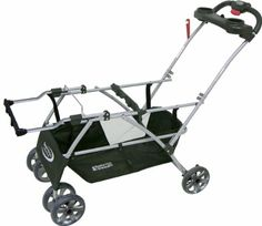 Baby Trend Double Snap N Go Stroller Frame, Black: Baby, has 2 cup holders for mom.