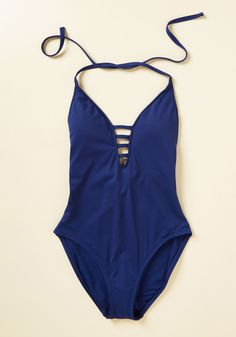 Splash It Out One-Piece Swimsuit in Cobalt. Beach volleyball, lying in the sun, or jumping in the water? #blue #modcloth