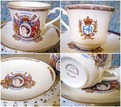 The Coronation of Queen Elizabeth II 1950s teacup and saucer