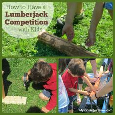 Looking for some lumberjack style historical fun? Create kid friendly versions of professional logging games in your own family lumberjack c...