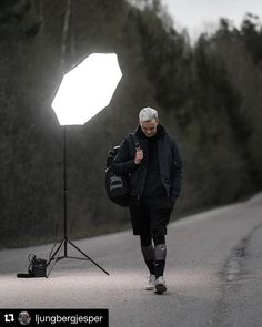 Behind the scenes by @ljungbergjesper : When there's no sun make your own #BehindTheScenes