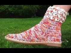 Crochê da Alessandra - increíble técnica de ganchillo zapatos.   su ganchillo