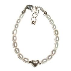 Destiny Sterling Silver Childrens Girls Bracelet Childrens freshwater pearls, Heart Size Medium 1-5 Years by Hail Mary Gifts, http://www.amazon.com/dp/B005LVNX0W/ref=cm_sw_r_pi_dp_A4JSpb0CPTNX0