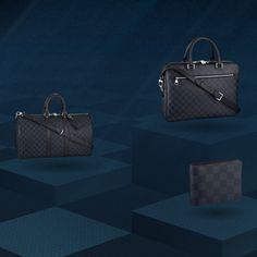Straight from the Louis Vuitton Men's Fashion Show, the new Damier Cobalt Collection is now available.