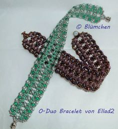 O-Duo Bracelets beaded by Beate Blum (http://meineperlenwelt.blogspot.de/2014/04/o-duo-bracelet.html). Beautiful! Thank you for sharing!