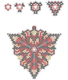 trojuholník z korálikov ako trojuholník väzba korálky korálik trojuholník diagram prívesok korálek diagram korálek náramok