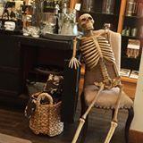 Pottery Barn Skeleton at Shops of Wiregrass. Toni Weidman, Florida Luxury. http://weidmanteam.com/classic-cars-skeleton-shops-wiregrass/