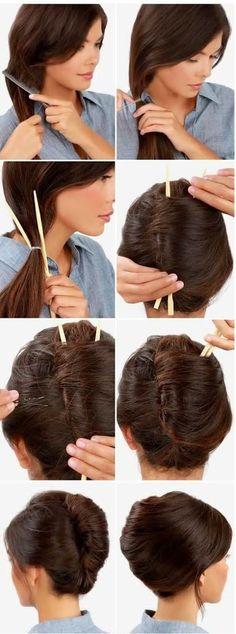 coiffures simples ,rapides et pratiques | Coiffure simple et facile